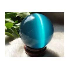 Cat Eye Crystal Sphere w/ base