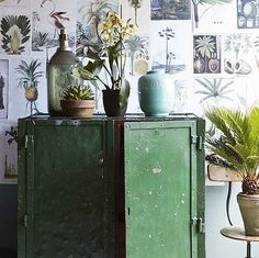 vintage green • botanical inspiration • the stylists: cleo scheulderman • via sfgirlbybay