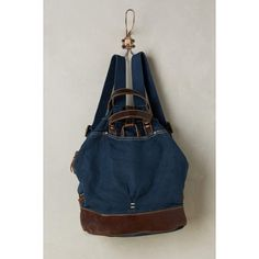 Rissetto Washed Canvas Backpack ($150) ❤ liked on Polyvore featuring bags, backpacks, navy, navy blue backpack, navy blue canvas backpack, navy blue bag, canvas knapsack and backpack bags