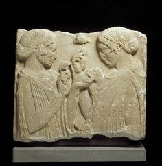 Fragment de stèle dit « L'Exaltation de la fleur »,vers 470 - 460 avant J.-C.