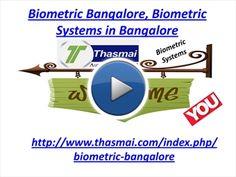 Biometric Bangalore, Biometric Systems in Bangalore | myBrainshark