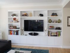 Wonderful Wall : Modern Media Entertainment Wall Unit White Wall Units   Neutral  Color For Your Wall Built In White Media Cabinetsu201a White Wall Tv Unitsu201a Wall  Units ...