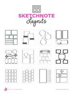 Implementing Sketchnotes - The Art of Education University Sketchbook Prompts, Sketchbook Assignments, Sketchbook Drawings, Art Drawings, Sketches, High School Art, Middle School Art, Art Classroom, Classroom Organization