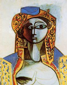 """dionyssos: """" Pablo Picasso , Jaqueline en costume Turc """""""