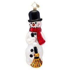Christopher Radko Classic Christopher Radko Buttons Glass Christmas Ornament