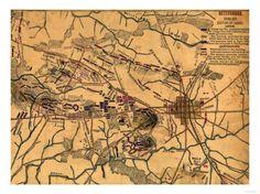 Battle of Gettysburg - Civil War Panoramic Map Prints at AllPosters.com