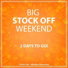 2 Days to go!! Big Stock Off Weekend 11th & 12th - Albufeira Showroom --------------------- Faltam apenas 2 dias!! Grande Fim-de-Semana Stock Off 11 e 12 Janeiro - Showroom de Albufeira  #stockoff #stockoffweekend #fimdesemana #ofertas #promoções #contagemdecrescente #faltam2dias #2daystogo #saldos #sale #countdown