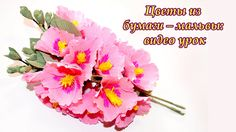 Easy Paper Flowers - Hollyhock / Mallows. Цветы из бумаги – мальвы: виде...