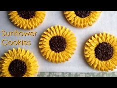 How To Decorate Sunflower Cookies! - YouTube. Amazingly simple