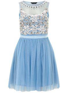 Blue embellished prom dress - View All  - Dresses