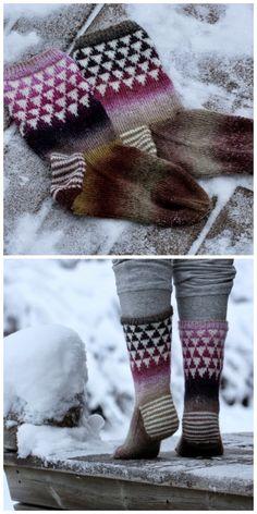Pujoliivi Knit Socks, Knitting Socks, Mittens, Inspiration, Fashion, Fingerless Mitts, Biblical Inspiration, Moda, Fashion Styles