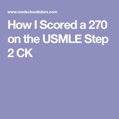 Enter the following coupon code upon checkout at score95 for a how i scored a 270 on the usmle step 2 ck fandeluxe Gallery