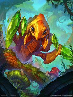 Hearthstone - Emerald Reaver, rafael zanchetin on ArtStation at https://www.artstation.com/artwork/V9JVg