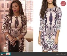 Cookie's butterfly print dress on Empire.  Outfit Details: http://wornontv.net/47017/ #Empire