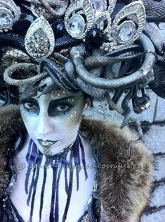 Amazing Hand Made Art Deco Medusa Costume ...This website is the Pinterest of costumes