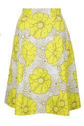 Sunrise Floral Print Midi Skirt