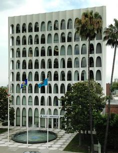 Perpetual Savings and Loan- 1961 by architect Edward Durrell Stone   9720 Wilshire Boulevard   Beverly Hills   California