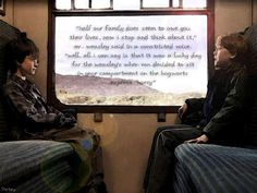 """Half our family does seem to owe you their lives, now I stop and think about it."" Mr. Weasley said in a constricted voice. ""Well, all I can say is that it was a lucky day for the Weasley's when Ron decided to sit in your compartment on the Hogwarts express, Harry"""
