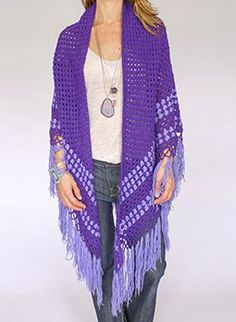 Vintage 1970s crochet scarf