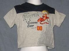 Winnie the Pooh Tigger T-Shirt Size 12 Mos Grey Climbing Camp Disney