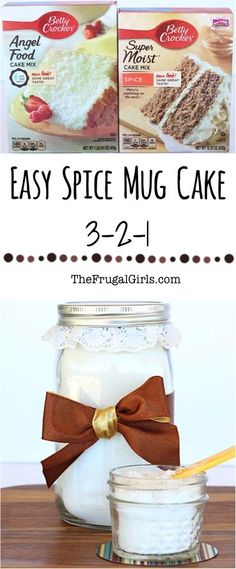 Easy Spice Mug Cake Recipe! ~ at TheFrugalGirls.com ~ it's as easy as 3-2-1! This sweet little Fall cake is the perfect portion control trick, and is sure to satisfy those sweet tooth cravings! Just add water! #mugcake #recipes #thefrugalgirls