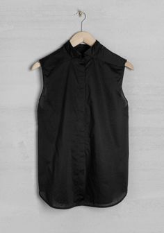 sleevless shirt, black and white, diy