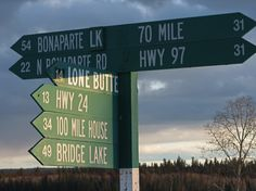 Road signs take Hwy 24 You are entering the fishing highway. Lots of lakes with resorts and camp sites. Find your place to make family memories.