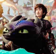 Hiccup and Toothless!