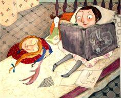 Hay libros que nos hechizan… y nos olvidamos del tiempo (ilustración de Joanna Hellgren)