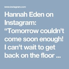 """Hannah Eden on Instagram: """"Tomorrow couldn't come soon enough! I can't wait to get back on the floor @pumpfit_club to lift some shit and get SWEATY AF with my…"""" • Instagram"""