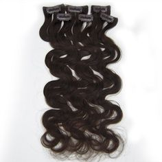 """20"""" 6pcs wave Clips-in hair Human Hair Extensions #02 Dark Brown by Martonline. $25.60. High quality, tangle free, silky soft. 100% human hair extensions and very competitive price. Wholesale price. 3 sets are recommended for whole head. 6pcs set Clips in hair extension. Can be washed, heat styled. Length:20"""". Texture:Wave. Qty:1set-6pcs(2"""" wide per piece,1 clip/pc). Color:#02. Weight:36g/set(with clips). Type:Clips on. Color references:#01 Jet black,#1B Off Black/Natural Black..."""
