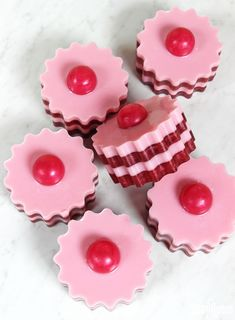 DIY Red Berry Melt & Pour Soap Tarts