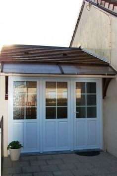 French door with folding shutters decorative door between Remplacement fenetre pvc
