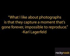 """What I like about photographs is that they capture a moment that's gone forever, impossible to reproduce."" #photography #quotes"