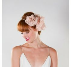 Blush Double Flower Crown Halo Bridal Wreath