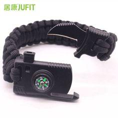 Comprar JUFIT Pulseira Multi-funcional Ao Ar Livre Camping Caminhadas  Survival Engrenagem Fuga Ferramenta Multi 356273855f42e
