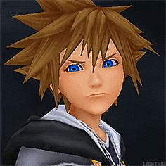 In KH2 when Roxas takes off his hood after fighting Sora and Sora's just like --