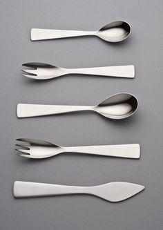 scandinaviancollectors: GIO PONTI, stainless steel cutlery, 1951. / Pinterest