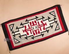 Southwestern Zapotec Indian Rug 32x64 Wool (sb2)