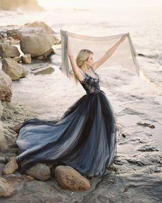 24 Black Wedding Dresses With Edgy Elegance ❤ black wedding dresses ball gown simple tulle skirt my wony #weddingforward #wedding #bride #weddingoutfit #bridaloutfit #weddinggown