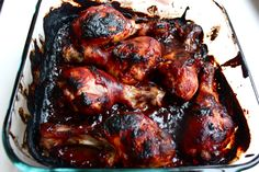 BBQ baked chicken legs