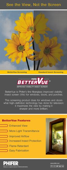See the View, Not the Screen with BetterVue Improved Visibility Insect Screen