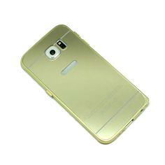 ΘΗΚΗ SAMSUNG S6 BUMPER METAL MIRROR ΧΡΥΣΟ Galaxy Phone, Samsung Galaxy, Metal Mirror