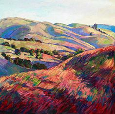 Pasoscapes Diptych Right Panel - by Erin Hanson