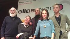 """El ACTOR PABLO RIVERO presentando DE TU VENTANA A LA MÍA con la directora Paula Ortíz y parte del equipo en el Festival """"Ellas crean"""""""