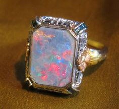 Victorian Black Opal Ring - Bing images