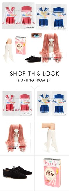 """""""Lucky Star OC"""" by zozo-chan ❤ liked on Polyvore featuring Coshome, Calvin Klein and Manolo Blahnik"""