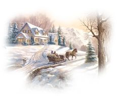 View album on Yandex. Clip Art Vintage, Horse Carriage, Christmas Scenes, Winter Christmas, Frame Clipart, Snow Scenes, Country Farm, Christmas Pictures, Home Art