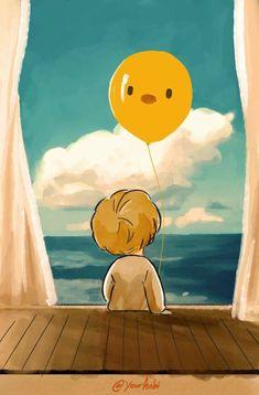 Serendipity Jimin fanart ctto awww this is so cute >. Jimin Fanart, Kpop Fanart, Bts Chibi, Kpop Drawings, Bts Lockscreen, Cute Wallpapers, Cute Art, Anime Art, Illustration