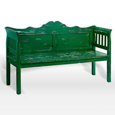 Nias Vintage Bench, Green